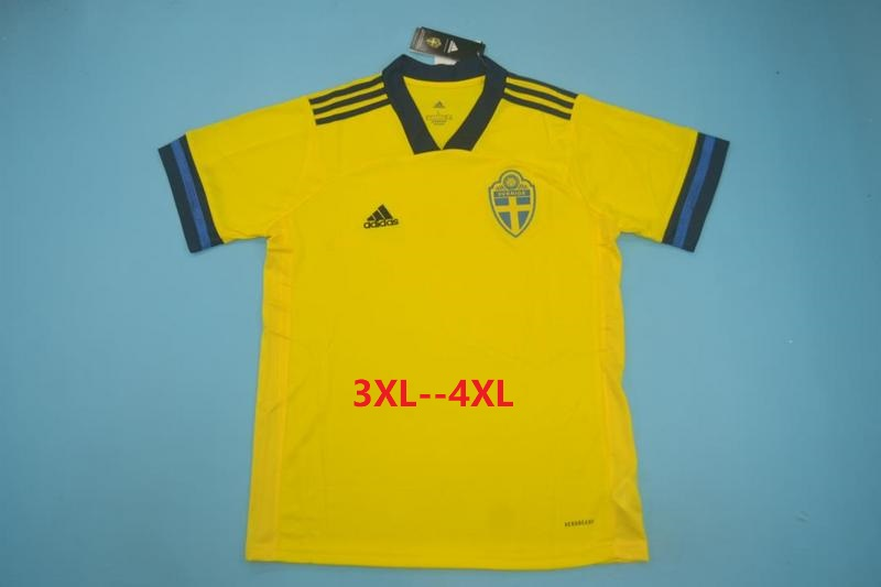 AAA Quality Sweden 2020 EURO Home Soccer Jersey(Big Size)