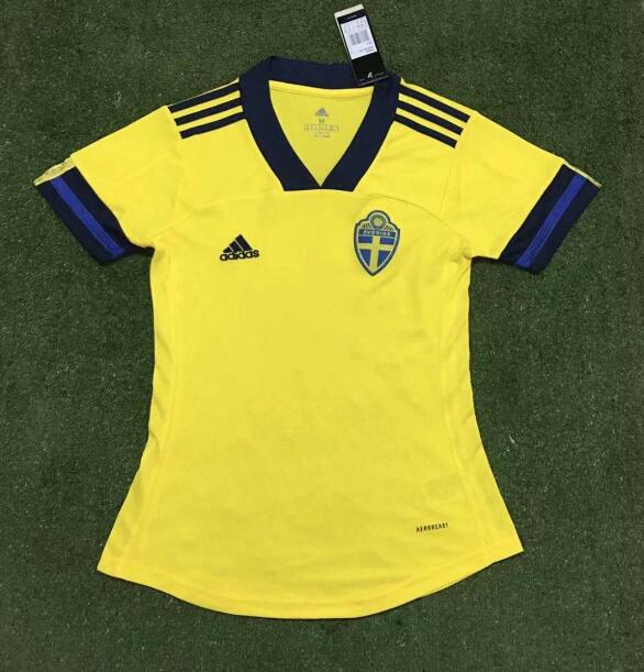 AAA Quality Sweden 2020 EURO Home Women Soccer Jersey