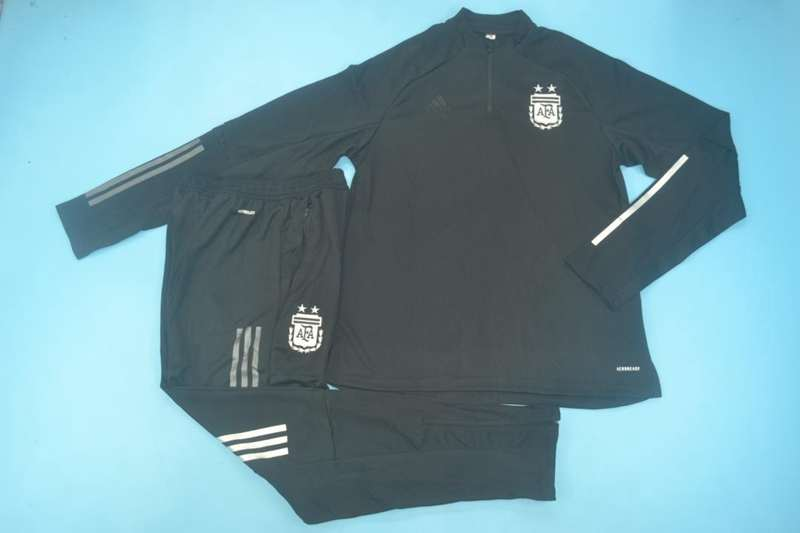 AAA Quality Argentina 2020 Black Soccer Tracksuit