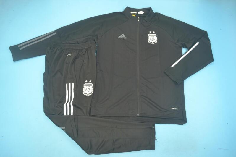 AAA Quality Argentina 2020 Black Soccer Tracksuit 02