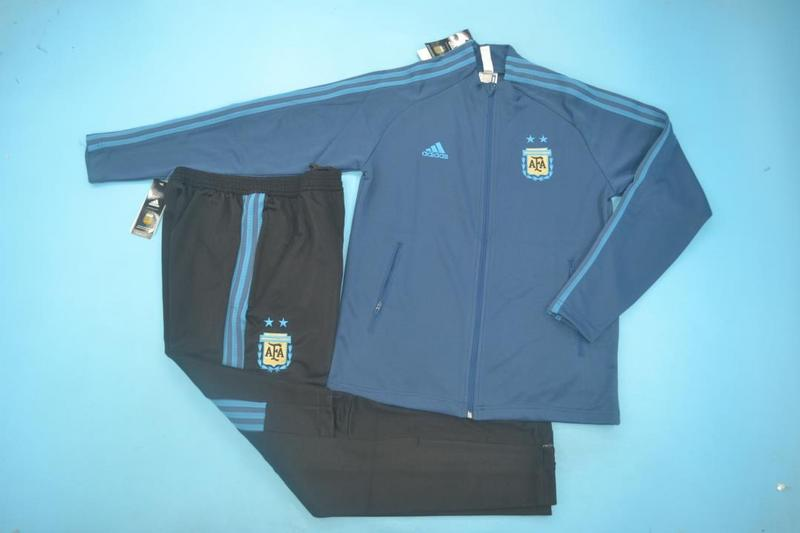 AAA Quality Argentina 2020 Blue Soccer Tracksuit