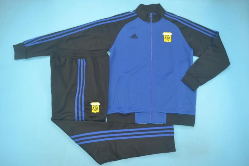 AAA Quality Argentina 2020 Blue Soccer Tracksuit 02