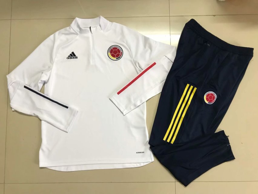 AAA Quality Columbia 2020 White Soccer Tracksuit