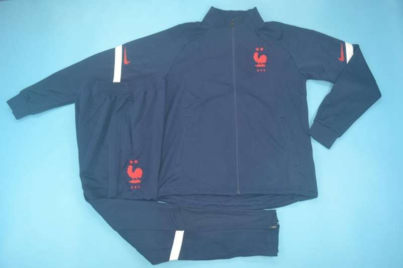 AAA Quality France 2020 Dark Blue Soccer Tracksuit