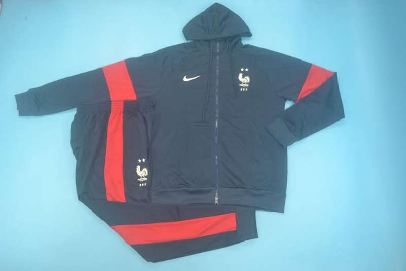 AAA Quality France 2020 Dark Blue Soccer Tracksuit 02