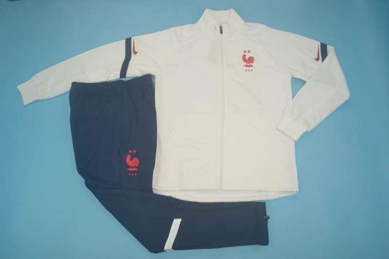AAA Quality France 2020 White Soccer Tracksuit