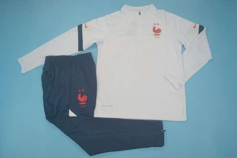 AAA Quality France 2020 White Soccer Tracksuit 02