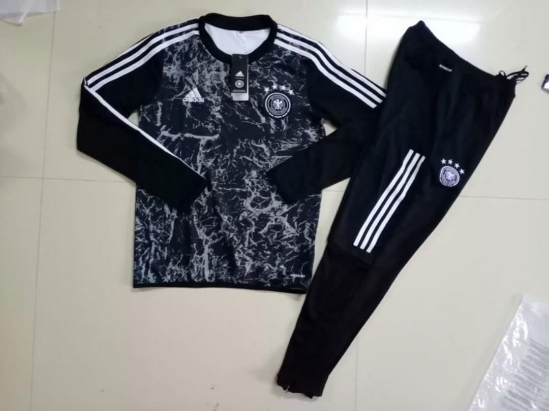 AAA Quality Germany 2020 Black Soccer Tracksuit