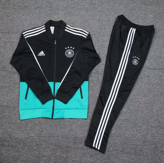 AAA Quality Germany 2020 Black Soccer Tracksuit 02