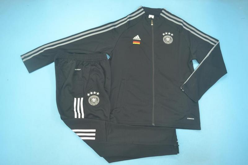 AAA Quality Germany 2020 Black Soccer Tracksuit 03