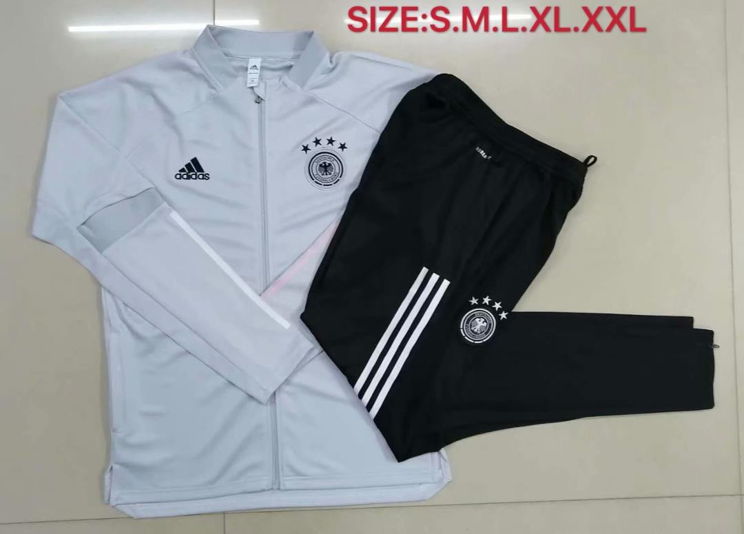 AAA Quality Germany 2020 Light Grey Soccer Tracksuit