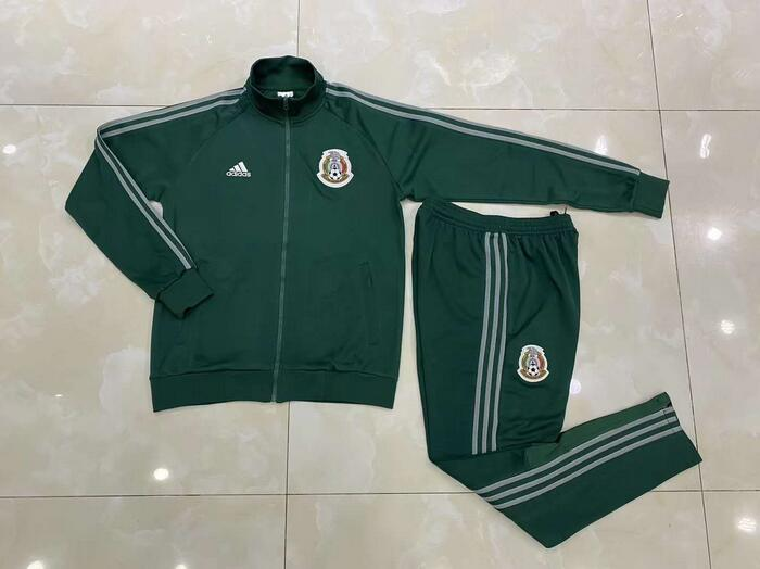AAA Quality Mexico 2020 Green Soccer Tracksuit