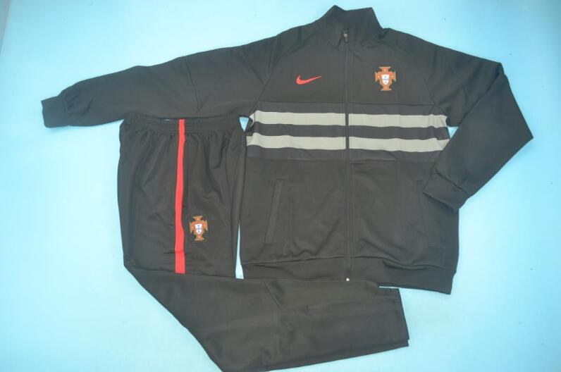 AAA Quality Portugal 2020 Black Soccer Tracksuit