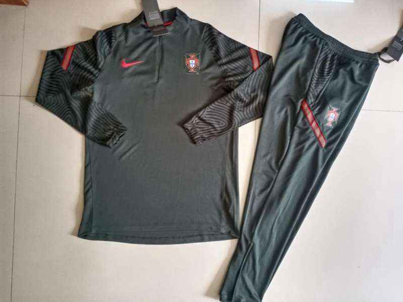AAA Quality Portugal 2020 Dark Green Soccer Tracksuit