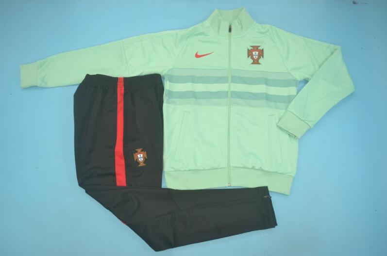 AAA Quality Portugal 2020 Green Soccer Tracksuit