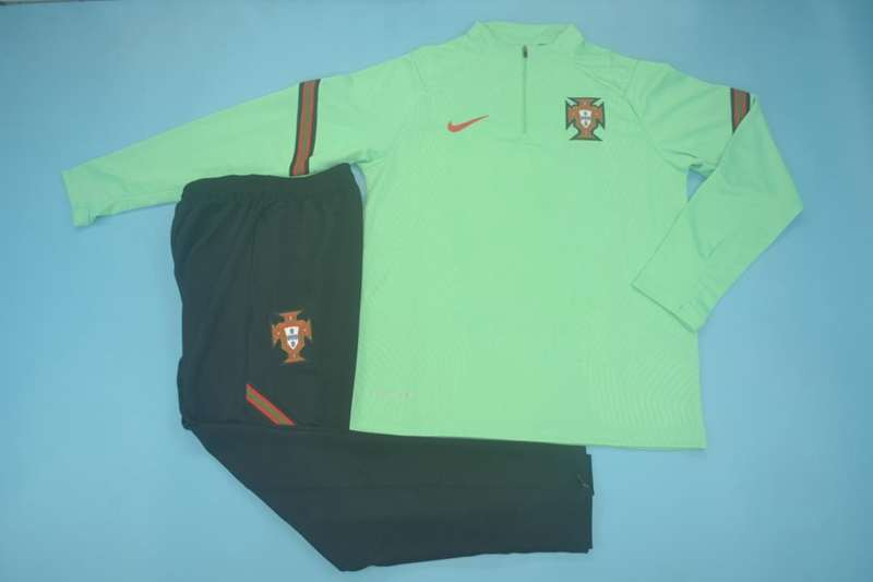 AAA Quality Portugal 2020 Green Soccer Tracksuit 02
