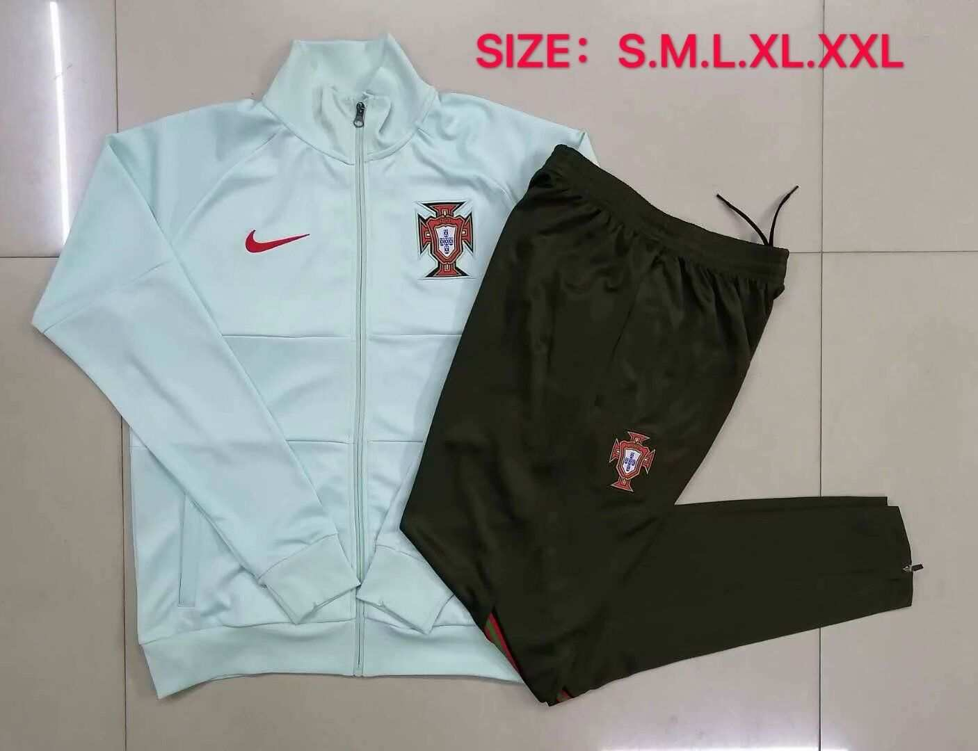 AAA Quality Portugal 2020 Green Soccer Tracksuit 03