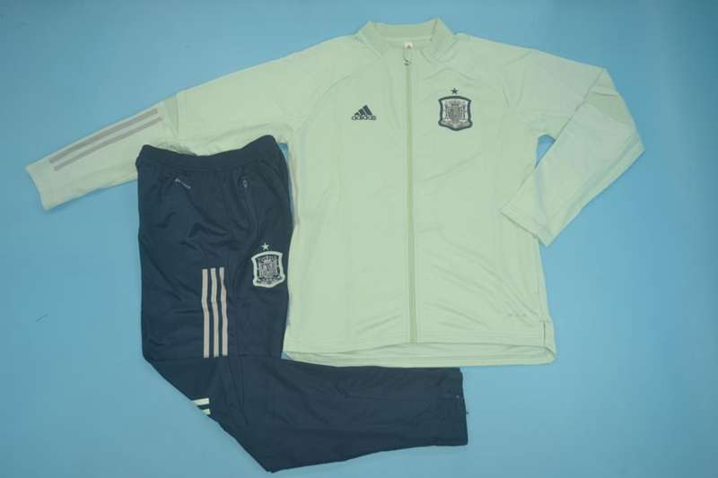 AAA Quality Spain 2020 Green Soccer Tracksuit