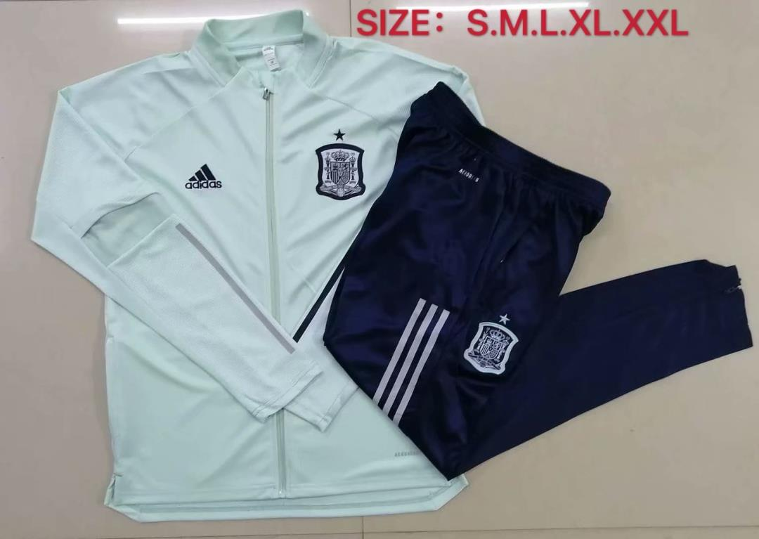 AAA Quality Spain 2020 Green Soccer Tracksuit 02