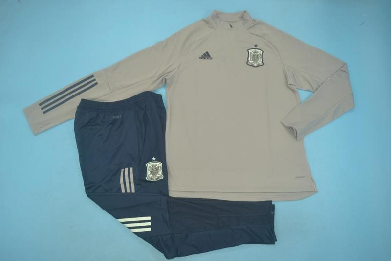 AAA Quality Spain 2020 Grey Soccer Tracksuit